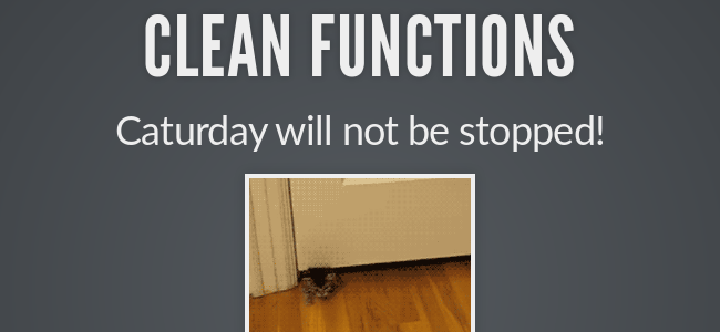 Clean Functions - slide preview